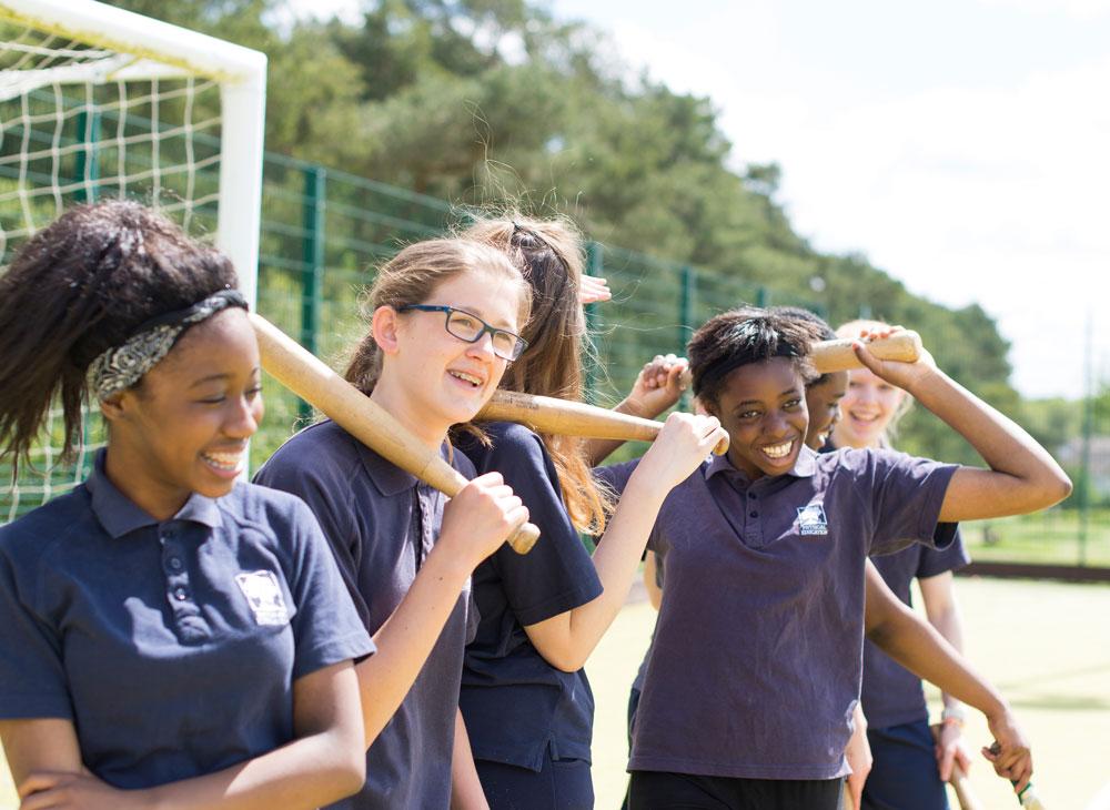 Girls in PE kit